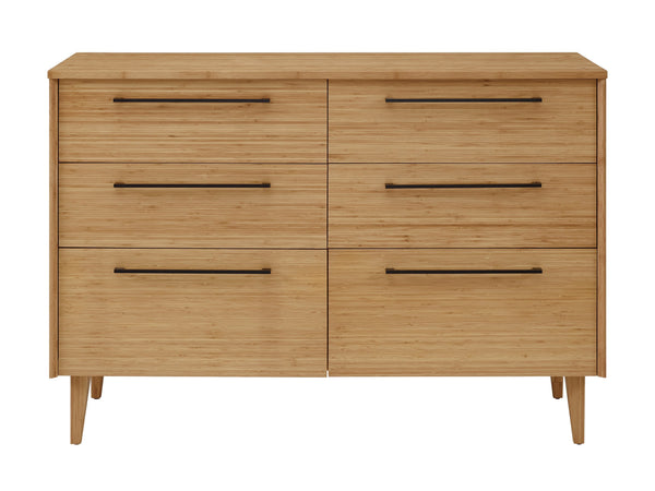 Greenington Sienna Six Drawer Dresser, Caramelized Greenington