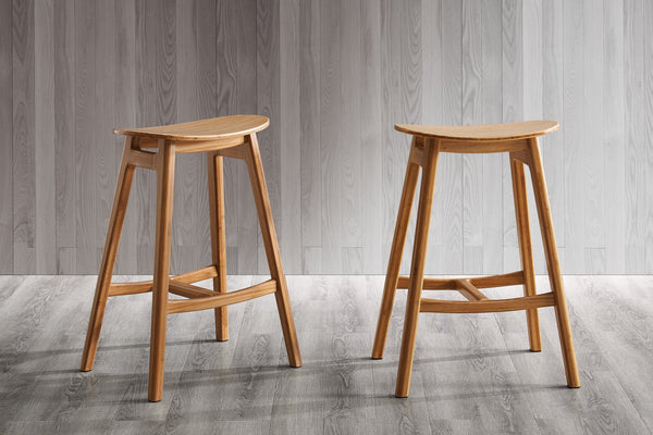 "Greenington Skol 30"" Bar Height Stool, Caramelized, (Set of 2) Greenington"