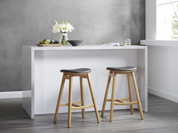 Greenington Skol Counter Height Stool with Leather Seat - Carmelized (Set of 2) Furniture Greenington
