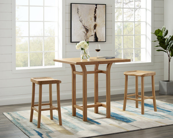 "Greenington Tulip 26"" Counter Height Stool, Caramelized, (Set of 2) Greenington"