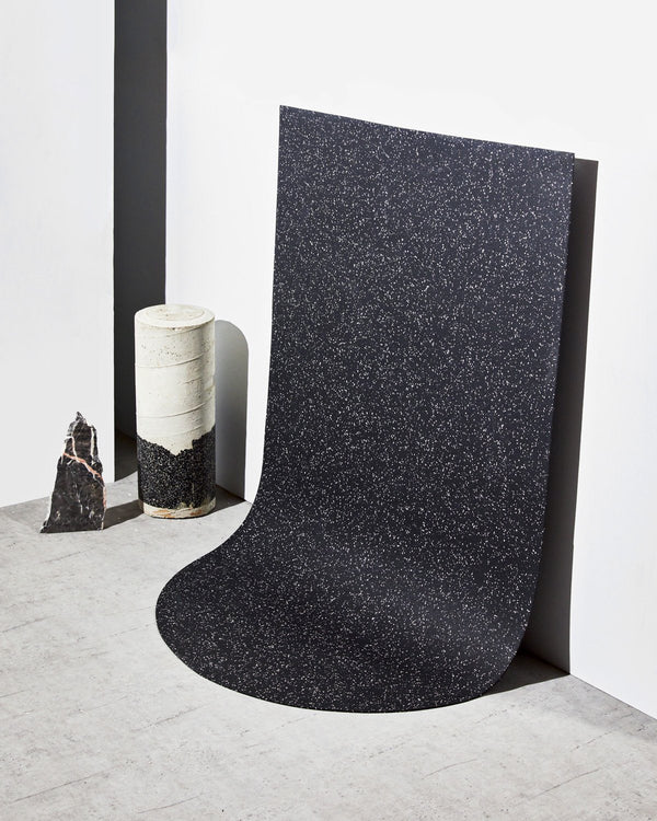 Half Capsule Floor Mat in Speckled Black Floor Mats Slash Objects
