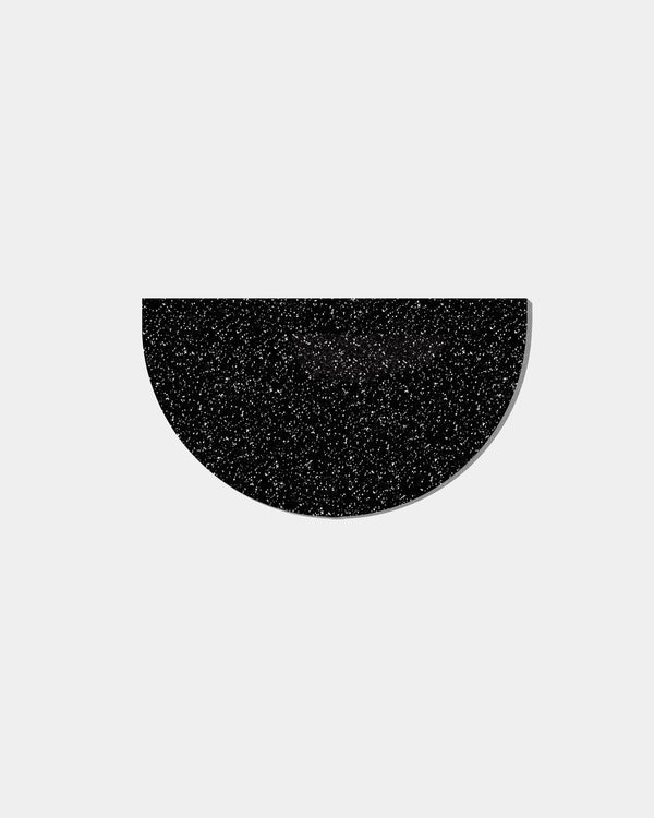 Half Circle Mat in Speckled Black Floor Mats Slash Objects