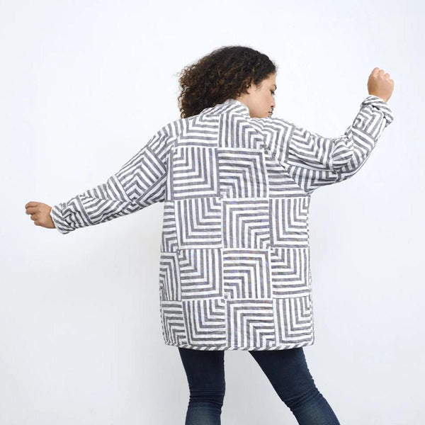 Haptic Lab Broken Stripes Quilt Coat Quilt Coat Haptic Lab