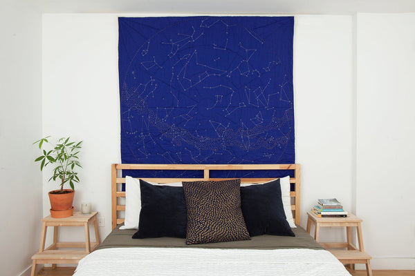 Haptic Lab Organic Constellation Quilt - Cobalt City Quilts Haptic Lab