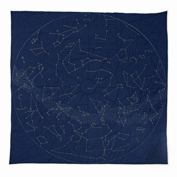 Haptic Lab Organic Constellation Quilt - Navy City Quilts Haptic Lab