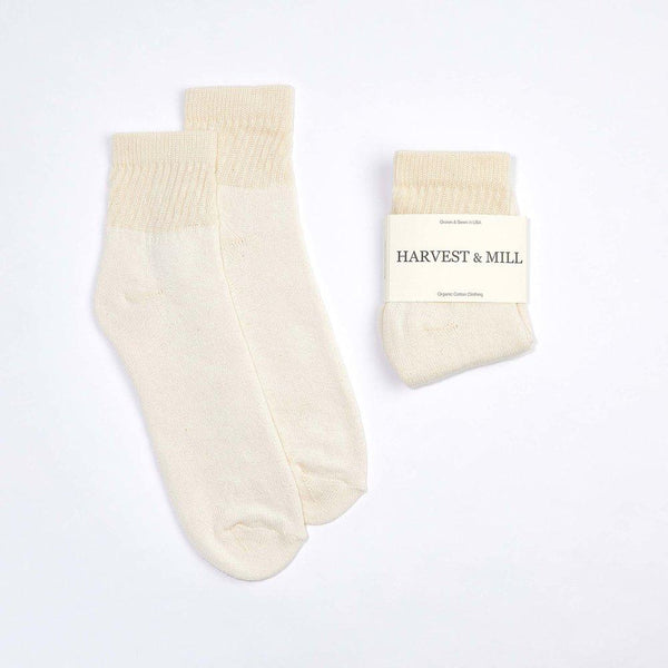 Harvest & Mill Men's 3 Pack Organic Cotton Socks Natural-White Ankle Harvest & Mill