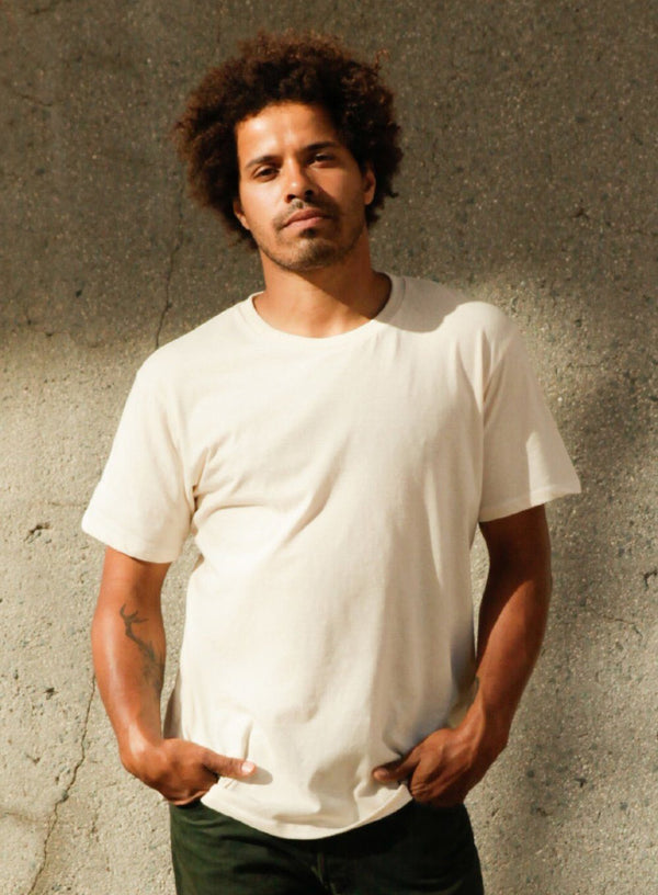 Harvest & Mill Men's Organic Crew Tee in Natural Harvest & Mill