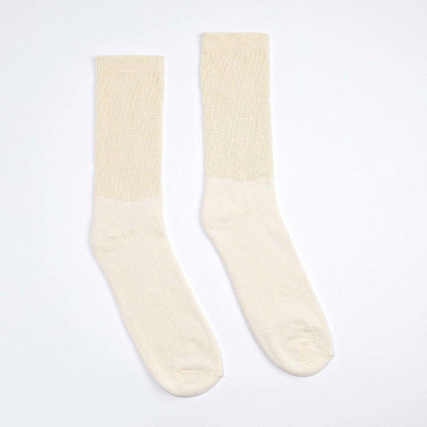 Harvest & Mill Women's 3 Pack Organic Cotton Socks Natural-White Crew Harvest & Mill