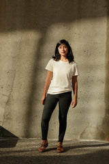 Harvest & Mill Women's Organic Crew Tee in Natural Harvest & Mill-13085404168255