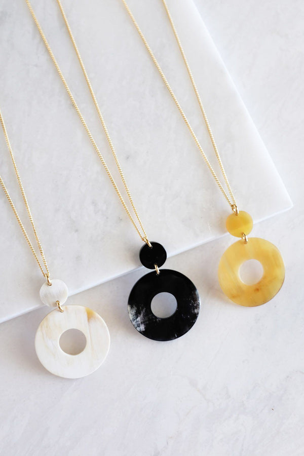 Hathorway Hoan Toan Donut Buffalo Horn Pendant Necklace Necklaces Hathorway