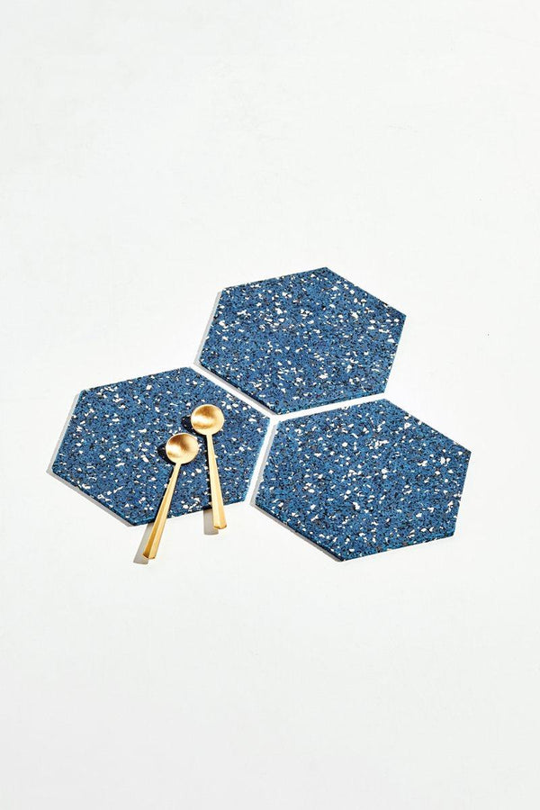 Hex Recycled Trivet Set - Royal Kitchen and Dining Slash Objects Trio