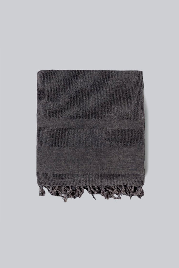 Home & Loft Black Stonewashed Towel/Throw Blanket Home & Loft