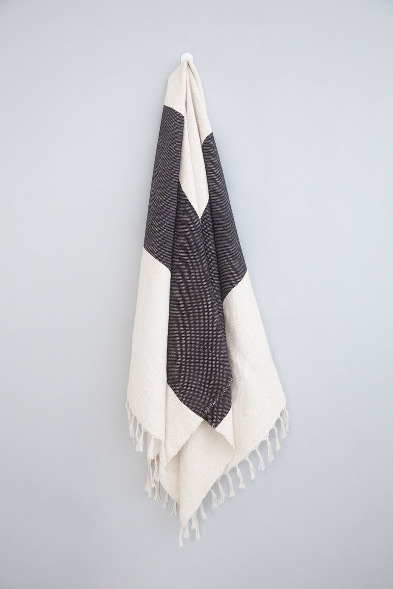 Home & Loft Charcoal Kilim Throw/Rug Throw Home & Loft