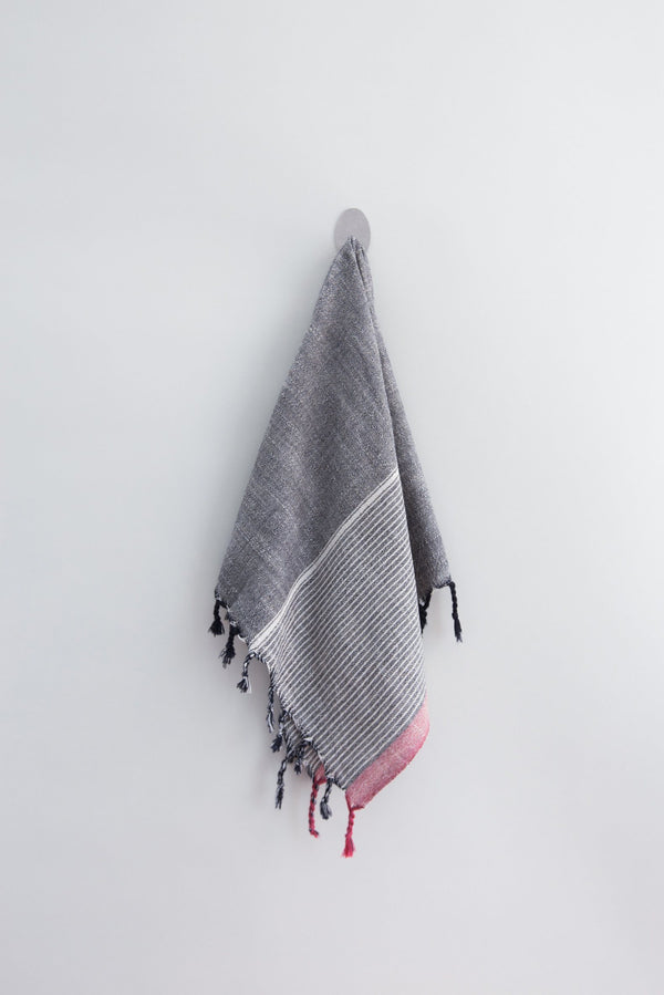 Home & Loft Charcoal Tribeca Hand Towel Hand Towel Home & Loft