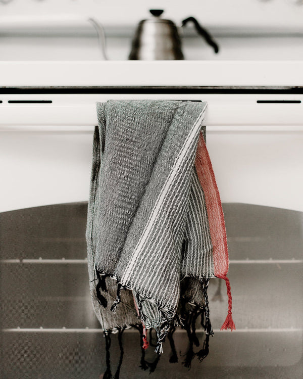 Home & Loft Charcoal Tribeca Hand Turkish Towel Bedding and Bath Home & Loft