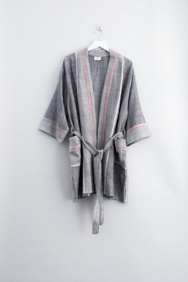 Home & Loft Charcoal Tribeca Short Robe Robe Home & Loft