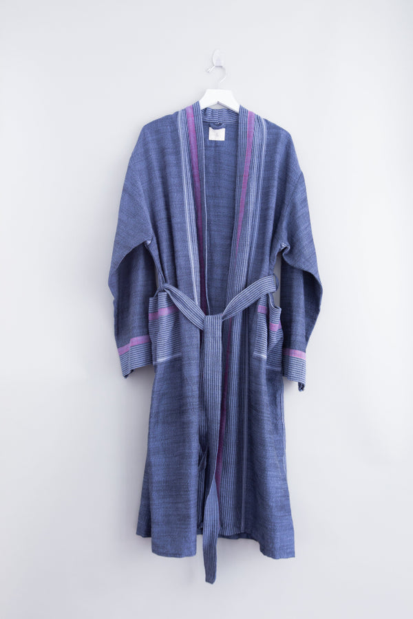 Home & Loft Indigo Tribeca Long Robe Robe Home & Loft