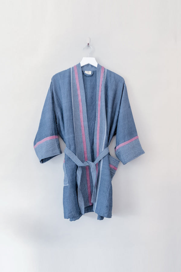 Home & Loft Indigo Tribeca Short Bathrobe Robe Home & Loft