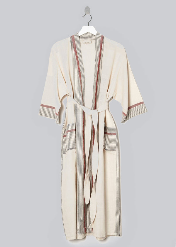 Home & Loft Ivory Cherry Tribeca Long Robe Home & Loft