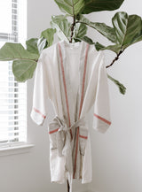 Home & Loft Ivory Cream Tribeca Short Robe Bedding and Bath Home & Loft -14707383402559