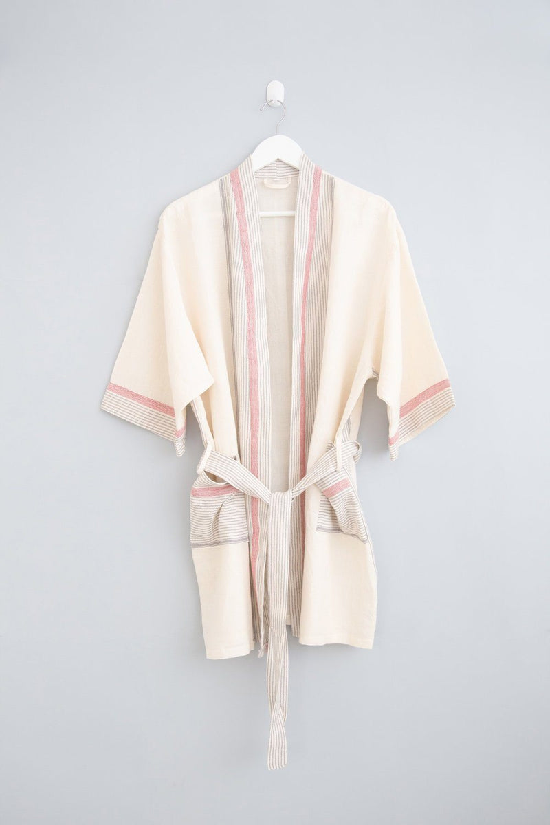 Home & Loft Ivory Cream Tribeca Short Robe Home & Loft