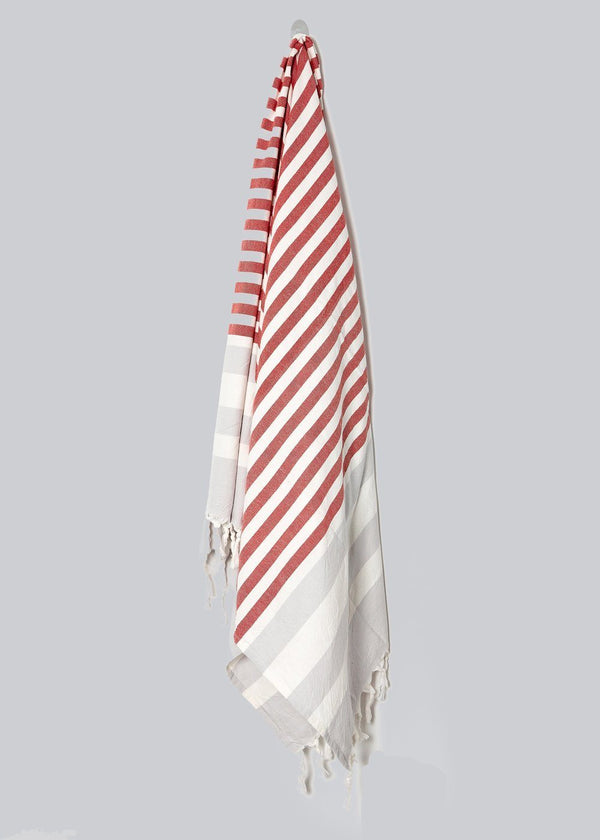 Home & Loft Nautical Beach Towel - Red Stripe Home & Loft