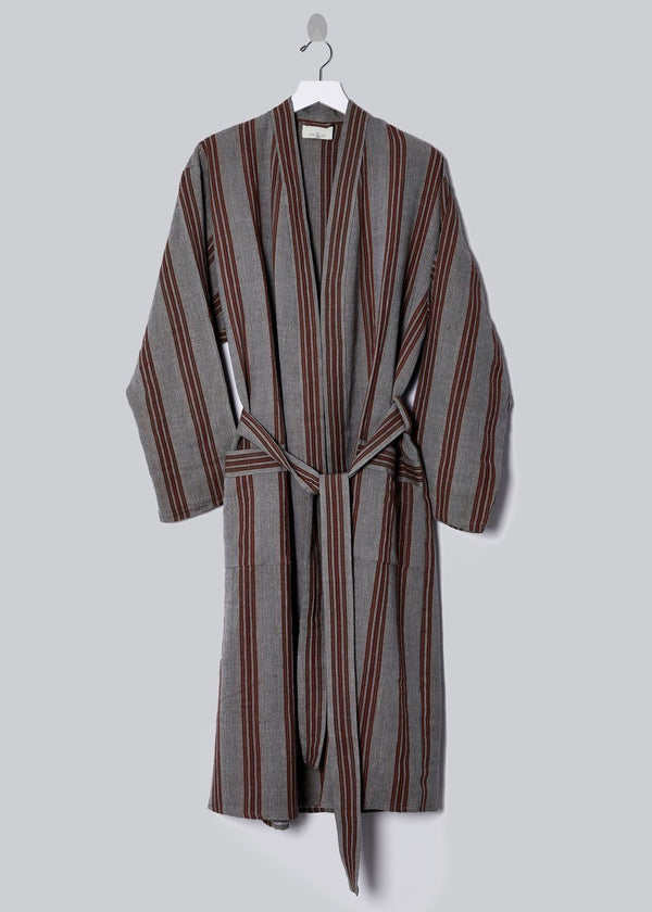 Home & Loft New York Robe - Grey + Rust Home & Loft