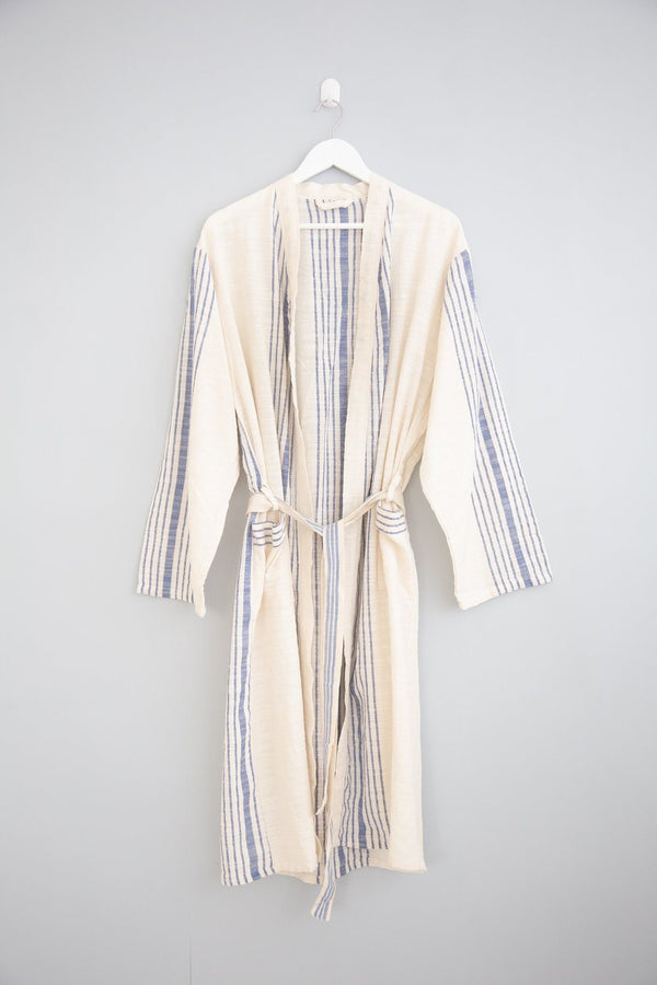 Home & Loft Royal Blue Hudson Long Robe Robe Home & Loft