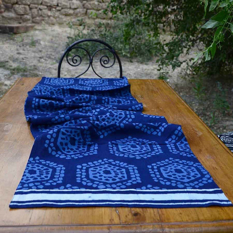 Honeycomb Organic Table Runner Ichcha