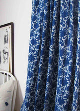 Ichcha Blue Flowers Curtain Ichcha-5009343709247