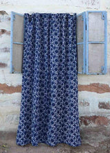 Ichcha Blue Flowers Curtain Ichcha-5010519818303