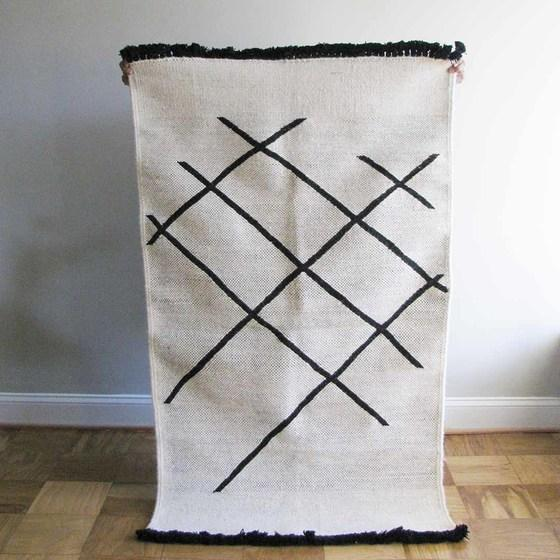 Ichcha Cross Hatch Dhurrie Rug Ichcha