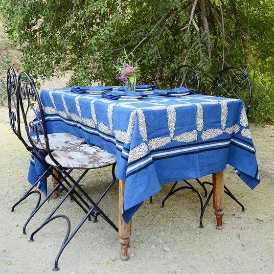 Ichcha Cypress Indigo Tablecloth Ichcha