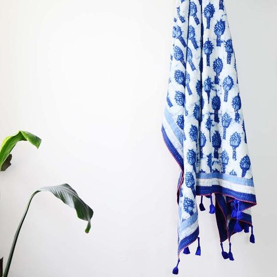 Ichcha Magnolia - Organic Cotton Throw Ichcha