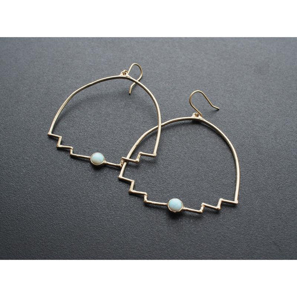 Iron Oxide New Step Hoop Earrings Accessories Iron Oxide