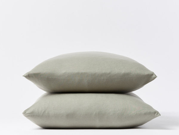 Jersey Envelope Pillowcases - Laurel Bedding Coyuchi