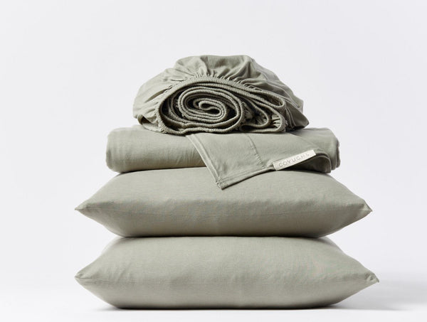 Jersey Sheet Set - Laurel Bedding Coyuchi