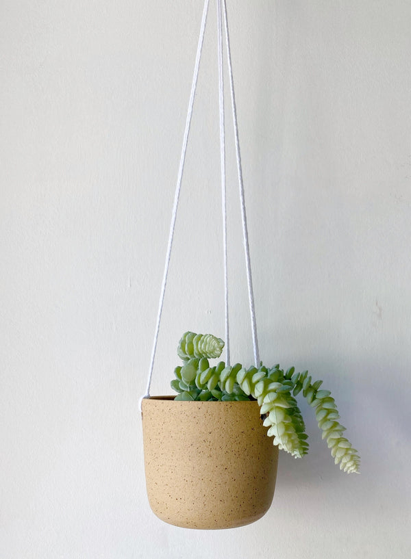 Katie Mudd Natural Stoneware Hanging Planter Home Decor Katie M Mudd Ceramics