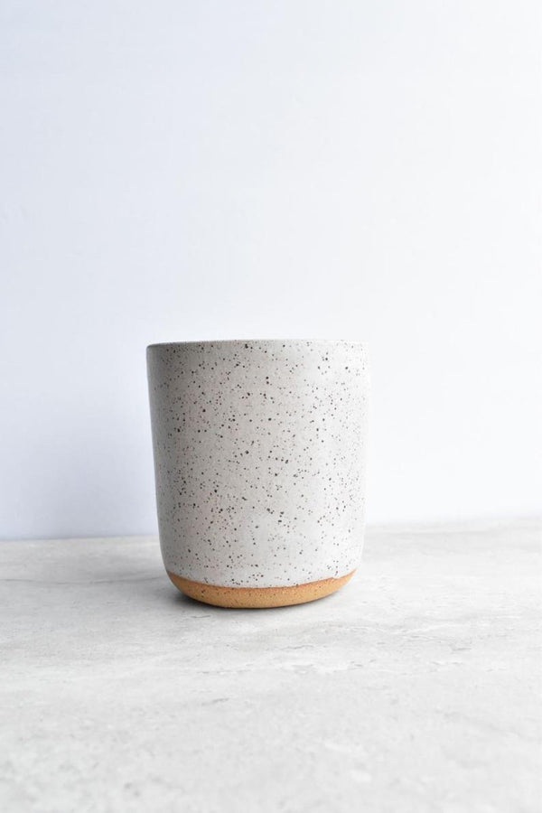 Katie Mudd Simple Speckled Stoneware Sipper - White Kitchen and Dining Katie M Mudd Ceramics