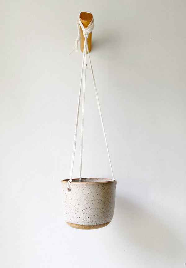 Katie Mudd Stoneware Hanging Planter - White Home Decor Katie M Mudd Ceramics