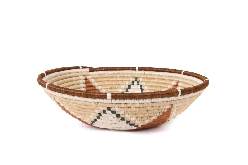 "KAZI 14"" Extra Large Shades of Sand Hope Round Basket Fruit Baskets KAZI"