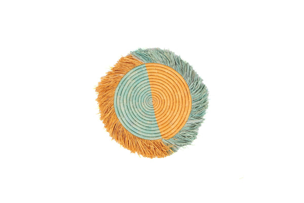 "KAZI 14"" Small Bermuda Fringed Wall Disc I Discs KAZI"