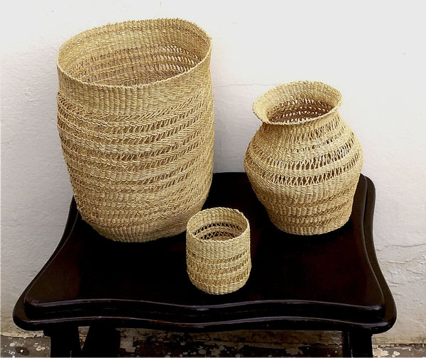 KAZI All Natural Lace Vase II Urn Vases KAZI