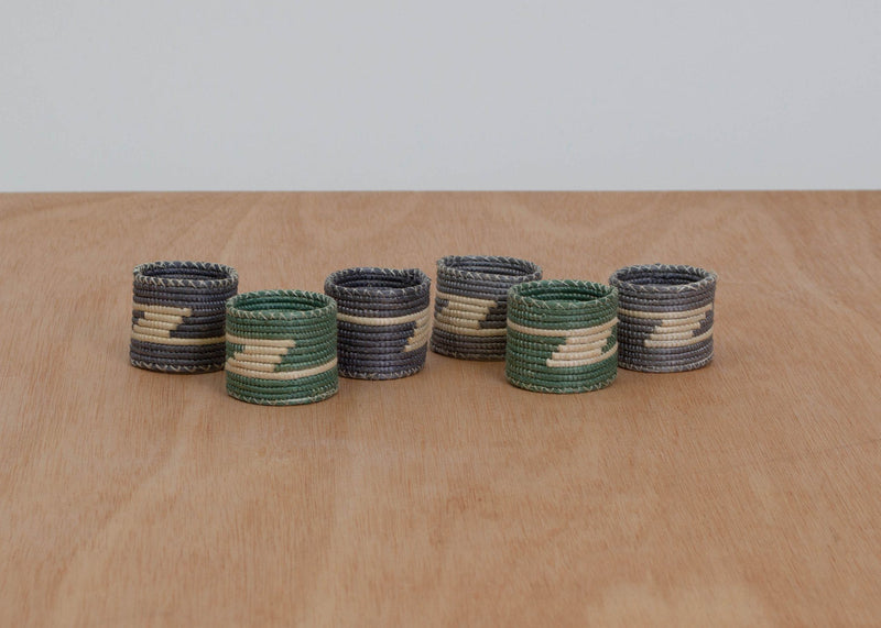 KAZI Aqua Sea Napkin Rings, Set of 6 KAZI