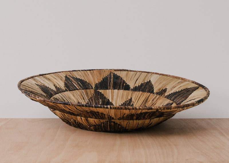 KAZI Banana Bark and Raffia Jumbo Bowl KAZI