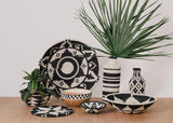 Kazi Black + White Beaded Wooden Bowl II Kitchen and Dining KAZI -14987042160703