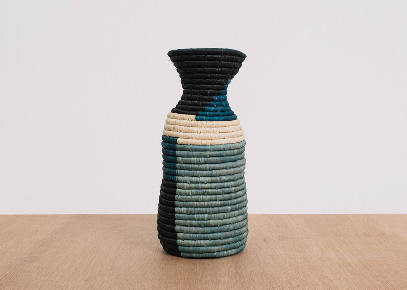 KAZI Blue Night Color Blocked Vase KAZI
