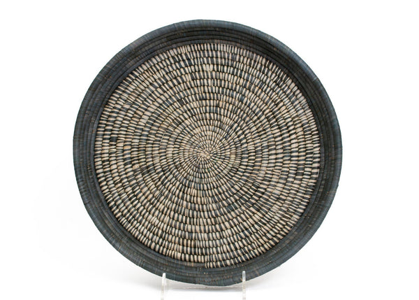 KAZI Carbon Heathered Raffia Tray KAZI