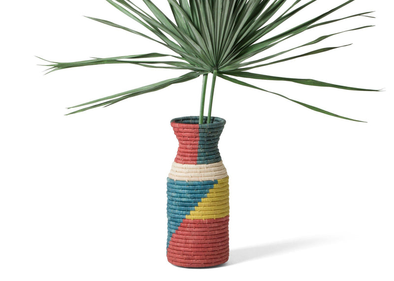 Kazi Color Blocked Akagera Vase I Home Decor KAZI