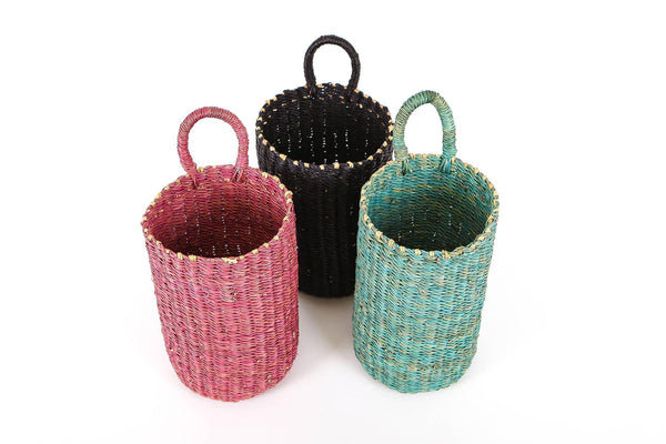 KAZI Gray Blue Hanging Basket Catch All Baskets KAZI